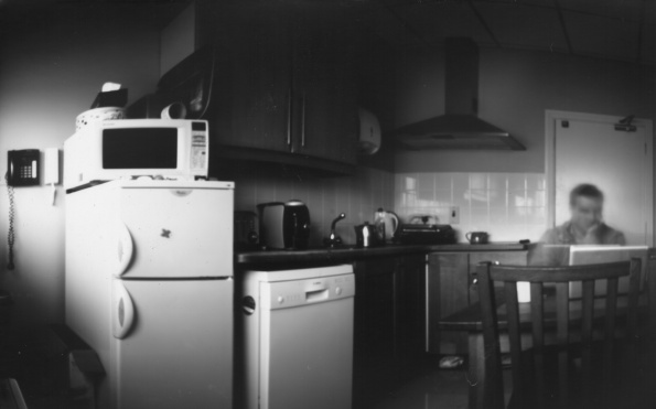 Cuddles in the Kitchen (Paper Negative) - Inverted